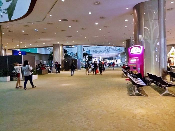 Baggage carousel area