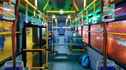 Inside the # 86 Bus